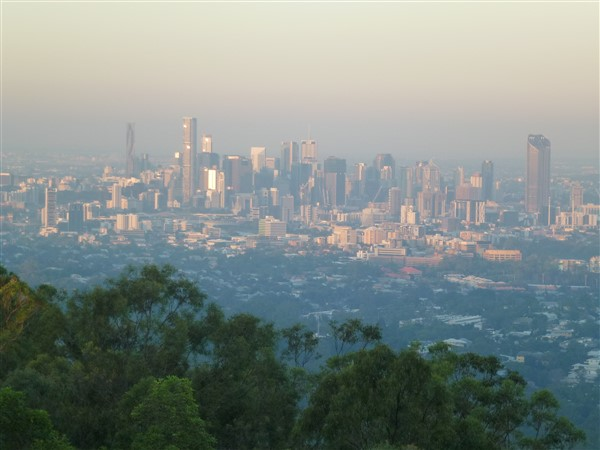 Brisbane from Mt Coot-tha